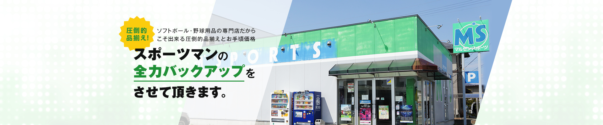 ハタケヤマ・ゼット・ザナックス、SKINS(スキンズ)等を中心とした山形県南陽市にある ソフトボール、野球用品通販の丸善スポーツです。